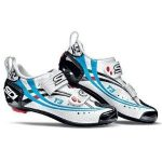 Sidi 2013 Women's T3 Carbon Air Triathlon Cycling Shoes (White/Black/Sky Blue Vernice – 39)