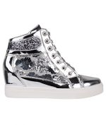 Metallic Wedge Trainers (Size UK 7 / US 9) (4493-SIL-7)