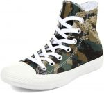 Converse Unisex Chuck Taylor? All Star? Tri-Panel Camo Hi Khaki/Palm Green/Privet CM Sneaker Men's 10, Women's 12 Medium