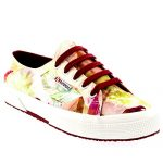 Womens Superga 2750 Fabric Bahamas Low Cut Casual Shoes Sneakers – Floral – 35.5